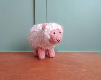 needle felted animals sheep felt sheep natural toy wool toy stuffed animal baby sheep lamb plush toy organic toys fieltro feutre