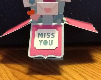 Miss you box card
