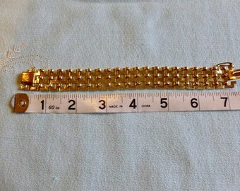 Henkel & Grosse Gold-tone German-made bracelet with safety clasp