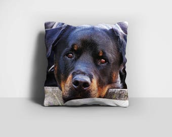 Rottie Pillow, Rottweiler Pillow, Throw Pillow, Rotty Pillow, Dog Pillow, Home Decor, Decorative Pillow, Pillow Case, Pillow Cover
