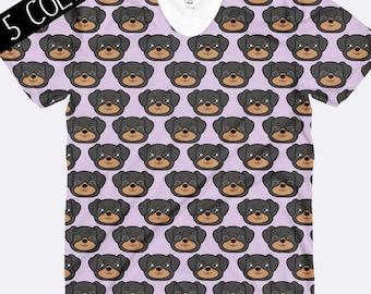 Rottweiler Shirt, Rottie Shirt, Dog Shirt, Ladies Shirt, Unique Shirt, All Over Print Shirt, Womens Shirt, Funny Shirts, Dog TShirt