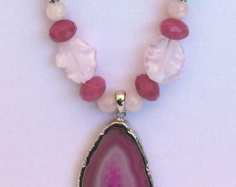 Pink Glass Necklace
