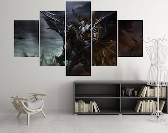 Xin Zhao - 5 Piece Canvas Wall Art | League of Legends Canvas Wall Art |  Champion Painting | Poster | Print | Mural | Decal | Decor