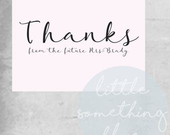 Future Mrs. Thank You Notes Template // Mrs // Pink // Thank You Note // Digital Template // Printable