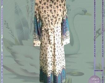 70's Cotton Flower Robe