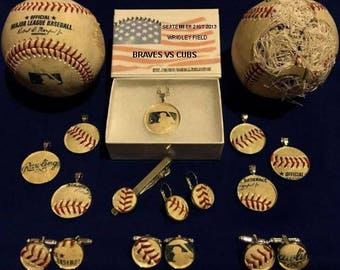 Philadelphia Phillies jewelry made from MLB authenticated game used baseball : cufflinks earrings pendants tie clip  In time for xmas !