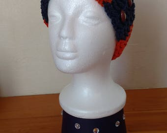 Denver Broncos inspired earwarmer