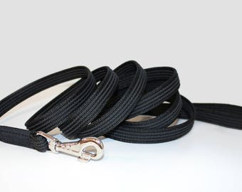 Durable Nylon Tracking Training Dog Lead Leash Rubberized With Loop Non-Slip