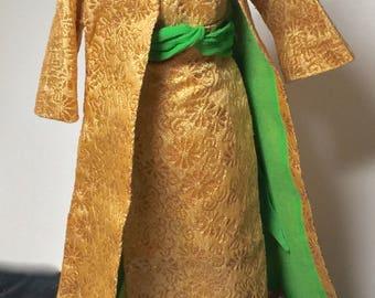 Vintage Barbie #1645 Golden Glory evening gown & coat