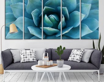 Agave Flower Wall Art Canvas Print, Large Canvas Agave Floral Wall Art, Agave Print, Agave Art Canvas