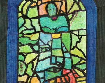 "Stained Glass - 11""x14"""