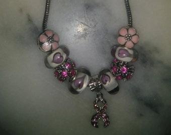 Pandora breast cancer bracelet