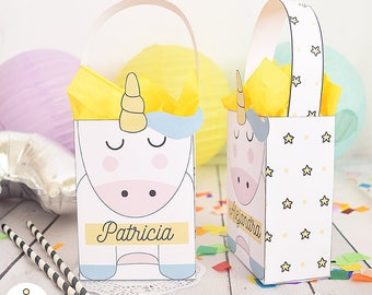 Box Unicorn for birthday parties, baby shower, first year