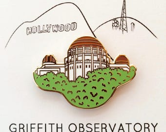 Griffith Observatory Enamel Pin