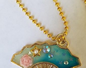 Galaxy Fan necklace