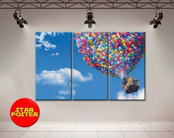 Up, Up canvas, Pixar Canvas, Up print, Up Pixar Canvas, Up poster, Up Wall Art, Up Wall decor, Up Pixar, Pixar Poster, Pixar Wall Art, Pixar
