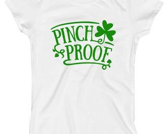 Girls St Patricks Day Shirt, Funny St Patricks Day Shirt, Kids Pinch Proof Shirt Toddler Girls, Baby Girls St Patricks Day Outfit