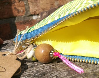 Medium Art Deco Sunburst Inspired Makeup Bag