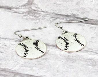 Baseball Theme Dangle Earrings
