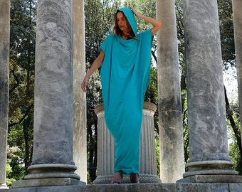 Hooded Maxi Dress, Plus Size Tunic, Party Dress, Asymmetrical Tunic, Kaftan Dress, Long Oversize dress, Plus Size, Maxi Dress, Sun Dress,
