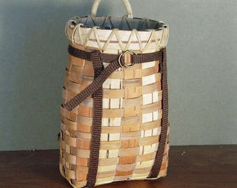 Birch Bark Handmade Miniature Basket