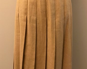 Vintage MJ Concepts in Sportswear Tan Pleated Skirt - MAde In USA - Size 7