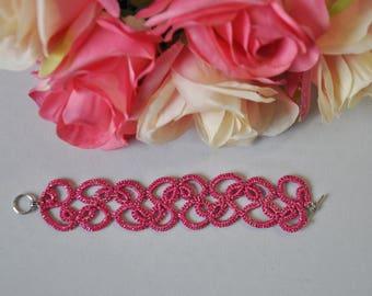 LACE BRACELET, tatting bracelet, lace jewelry, handmade bracelet, handmade, lace, tatting