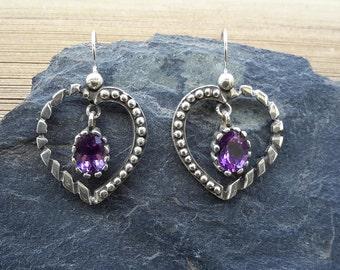 No.94 Amethyst Dangle Earrings