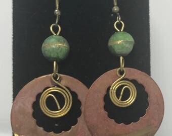 Vintage   Unique Copper Earrings