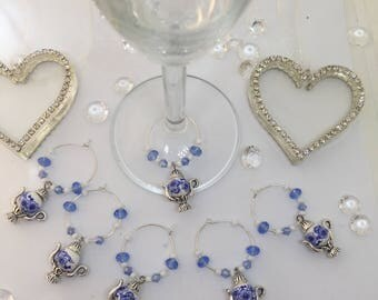 Wine Glass Charms - Afternoon Tea