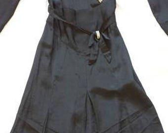 vintage 1920s black dropwaist dress