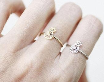 Pineapple adjustable ring,Pineapple Ring, Pineapple Jewelry, Pineapples