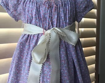 Vintage Girl's Hand Smocked Dress