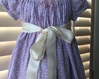 Vintage Girl's Hand Smocked Dress