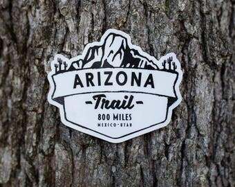"4"" x 3"" Arizona Trail Vinyl Sticker"
