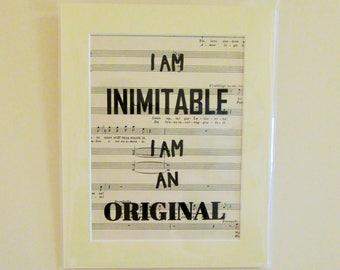 Hamilton Lyric Print   Music Print   Wait For It lyrics   Lin Manuel Miranda