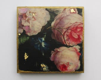 Pink Roses Wall Art, Shabby Chic Roses Wall Decor, Beautiful Fine Art Roses, Roses Small Wall Art Gift