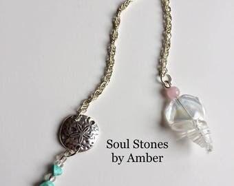 Pendulum with Glass Shell and Rose Quartz