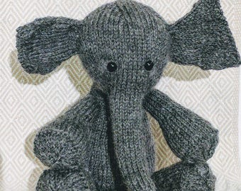 Elephant Plush Toy MADE TO ORDER. Variety of Colors.
