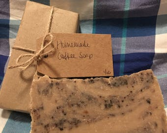 Homemade Coffee Soap, Hot Process Soap