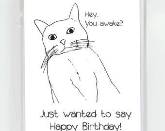 Bady Kitty Birthday Greeting Card