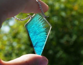 Natural feather Pendant