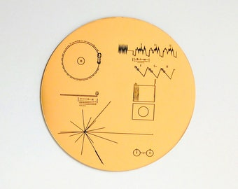 NASA Voyager Golden Record sticker / decal, laser engraved. Great for decorating laptop, notebook etc. 40th Anniversary of Voyager launch