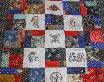 Pirates of the Caribbean Handmade Quilt
