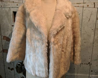 Vintage 1950's/1960's Faux fur cropped jacket coat