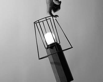 A - Concrete Table Lamp, Desk Lamp