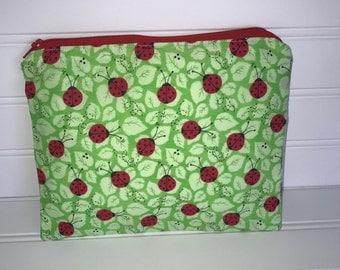 Ladybug Pouch | Handmade Zipper Pouch