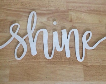 Wood Cut-out Handlettering