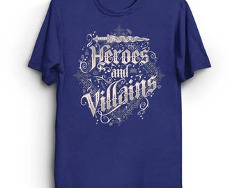 Heroes and Villains - Once upon a time T-Shirt | Emma Swan Shirt | Evil Queen T-Shirt