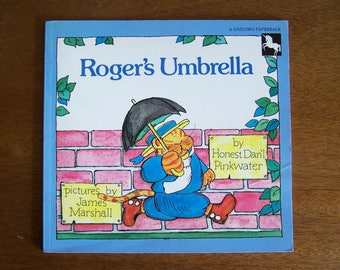 Roger's Umbrella by Daniel Pinkwater - Pictures by James Marshall - Children's Book - Humor